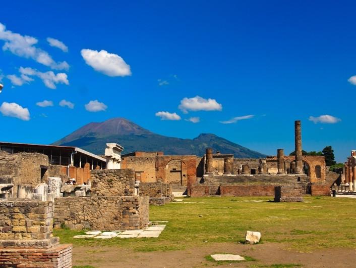 Shore excursion Pompeii Vesuvius Herculaneum from Sorrento - The Foro Pompeii