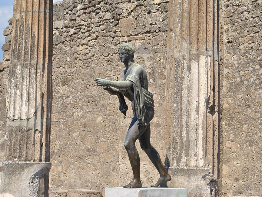 Pompeii archaeological shore excursion from Sorrento - Tiberius statue in Pompeii